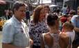 Jandira Feghali (PCdoB) fez campanha na favela do Jacarezinho