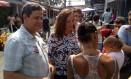 Jandira Feghali (PCdoB) fez campanha na favela do Jacarezinho Foto: Marcello Correa/ Agência O Globo