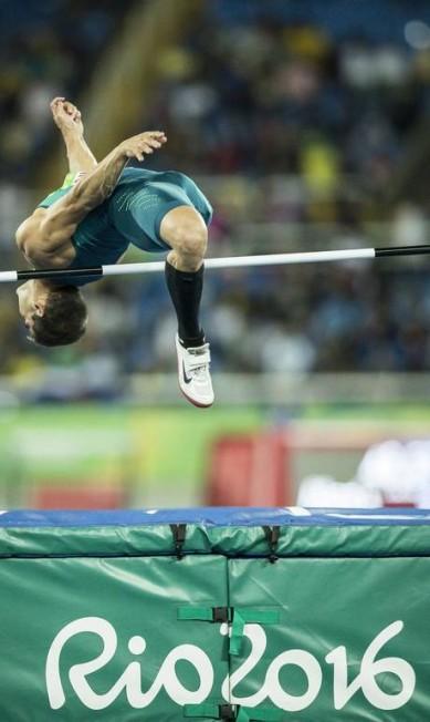 Final masculina de salto em altura Hermes de Paula / Agência O Globo