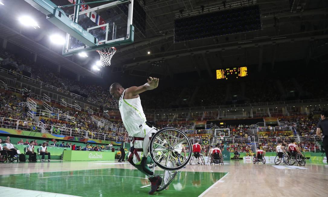 O Brasil cresceu para cima do Irã, em seu quarto jogo na fase de classificação no basquete paralímpico Monica Imbuzeiro / Agência O Globo