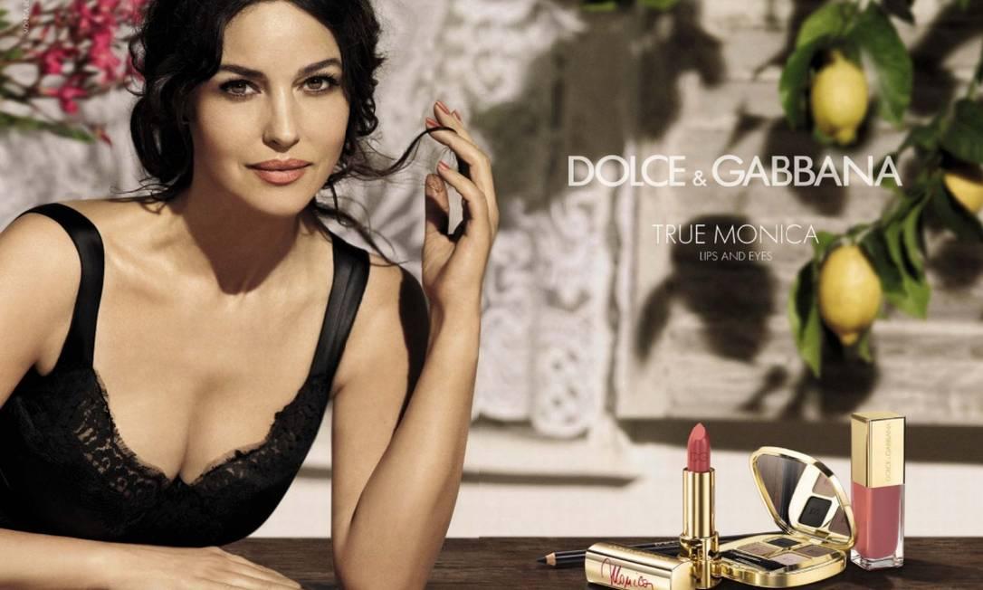 Atriz e também modelo, Monica é uma das grandes inspirações dos estilistas da Dolce & Gabbana Divulgação