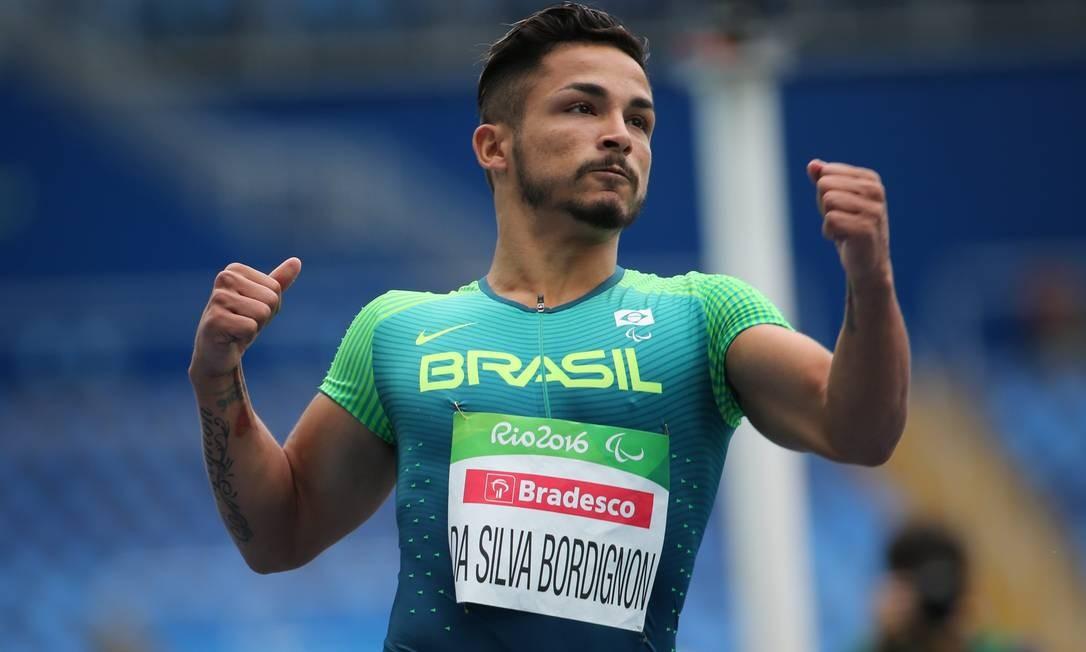 Fábio Bordignon na corrida que disputou na sexta-feira: duas pratas na Paralimpíada do Rio Foto: SERGIO MORAES / REUTERS