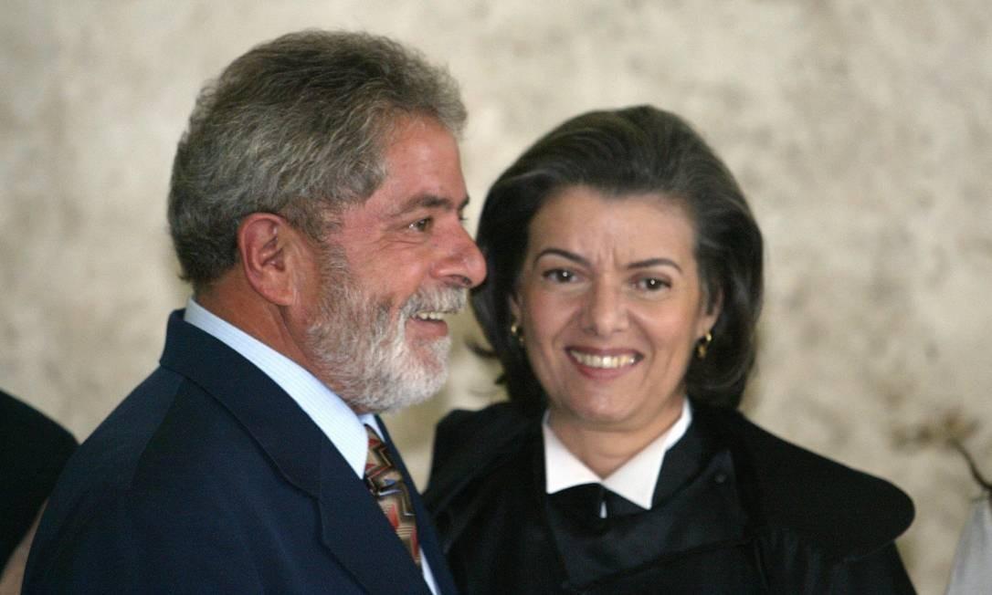 Cármen Lúcia tomou posse como ministra do Supremo Tribunal Federal (STF) em 2006, indicada pelo então presidente Luiz Inácio Lula da Silva Foto: Gustavo Miranda / Agência O Globo
