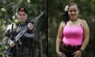 Diana Marcela, de 28 anos, entrou para as Forças Armadas Revolucionárias da Colômbia (Farc) aos 15, sem ter terminado o ensino médio. Como parte do acordo de paz selado entre o governo colombiano e a guerrilha, ela será liberada para completar os estudos e se tornar fotógrafa. Foto: Fernando Vergara / AP