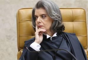 A ministra Cármen Lúcia durante cerimônia de posse no Supremo Tribunal Federal (STF) Foto: André Coelho