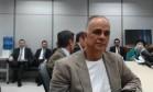 Marcos Valério presta depoimento ao juiz Sérgio Moro, em Curitiba Foto: Divulgação