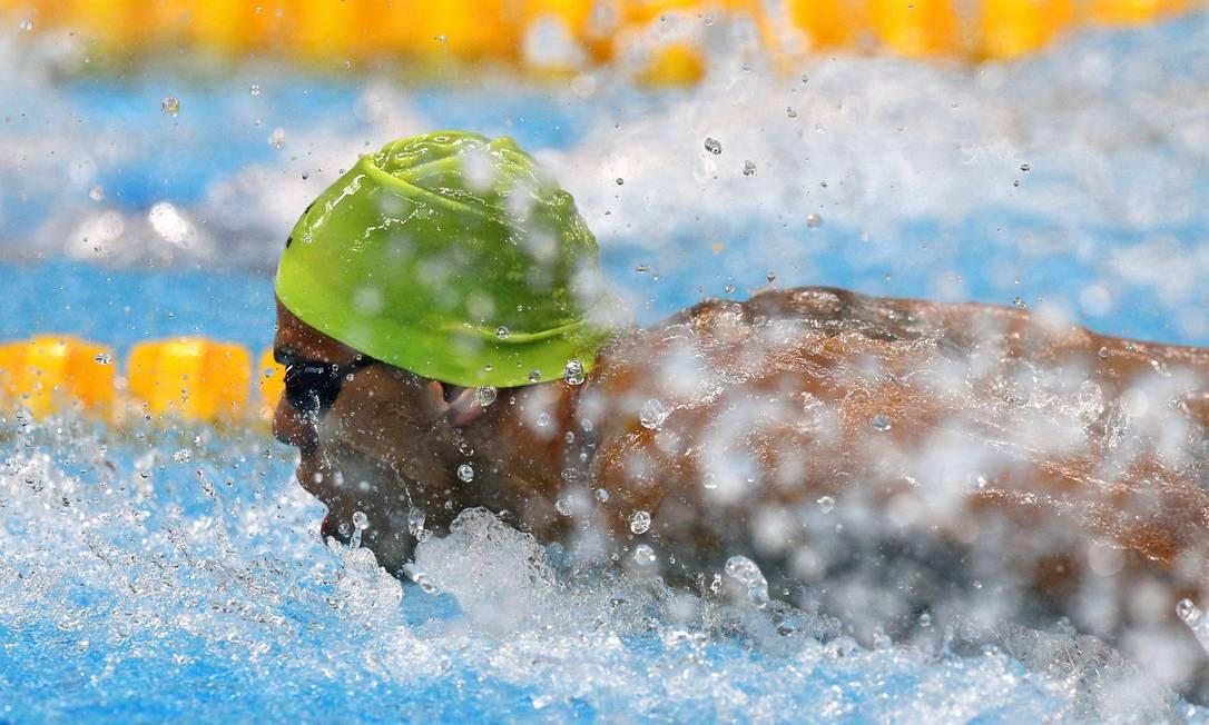 100m borboleta masculino S10. Andre Brasil, terceiro colocado na prova Pablo Jacob / Agência O Globo