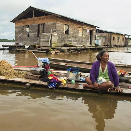 Comunidade ribeirinha no Amazonas: população vulnerável às mudanças climáticas Foto: ANTONIO SCORZA / ANTONIO SCORZA