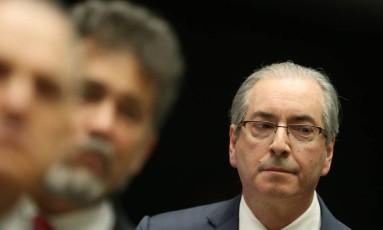 Cunha dentro do Plenário da Câmara. Foto: Andre Coelho / Agência O Globo