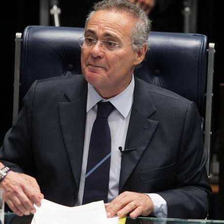 O presidente do Senado, Renan Calheiros (PMDB-AL), durante sessão na Casa Foto: Ailton de Freitas / Agência O Globo / Arquivo / 08/09/2016