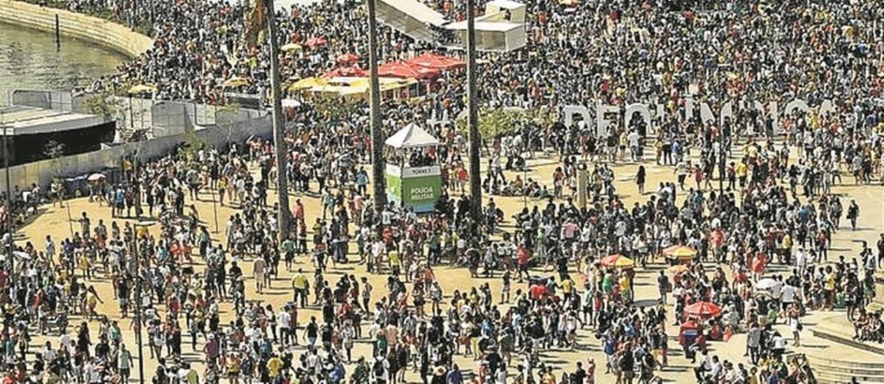 O Boulevard Olímpico do Porto: local atraiu multidões nos Jogos Foto: Gabriel de Paiva