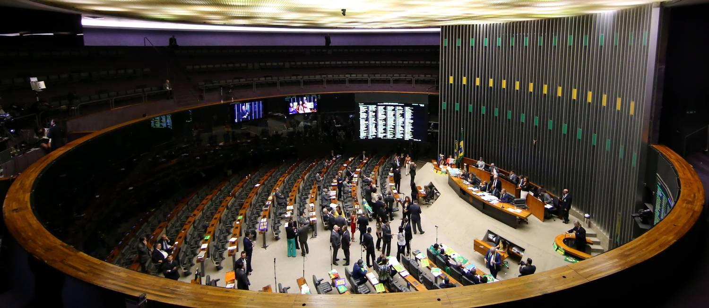 Plenário da Câmara dos Deputados durante sessão do impeachment da presidente Dilma Rousseff Foto: Ailton Freitas / Agência O Globo