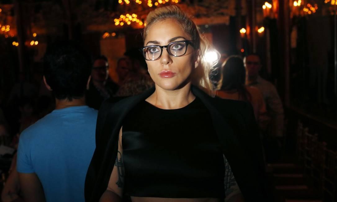 Lady Gaga posou para os fotógrafos com tranquilidade Seth Wenig / AP