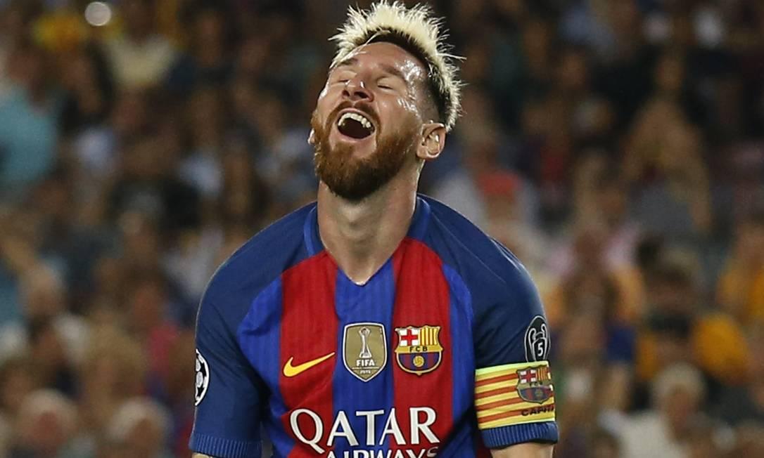 Messi em êxtase: Barcelona 7 a 0 no Celtic, no Camp Nou Albert Gea / REUTERS