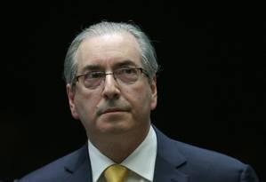 O deputado cassado Eduardo Cunha Foto: Eraldo Peres / AP / 12-9-2016
