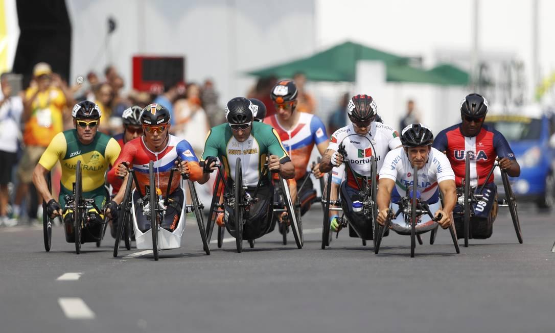 Classe H5, ciclismo de estrada: os atletas em suas bicicletas adaptada UESLEI MARCELINO / REUTERS
