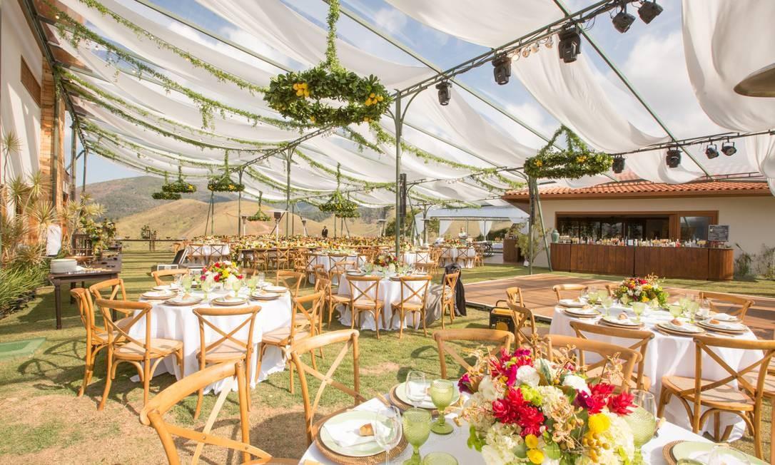 Plano geral de festa de casamento Foto: Rodrigo Sack / Divulgação