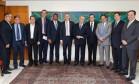 O presidente Michel Temer recebe deputados do Centrão Foto: MARCOS CORREA / Marcos Corrêa/Divulgação