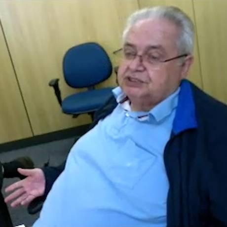 Pedro Corrêa durante depoimento Foto: O Globo