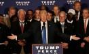 Donald Trump faz discurso durante evento de campanha em Washington Foto: MIKE SEGAR / REUTERS