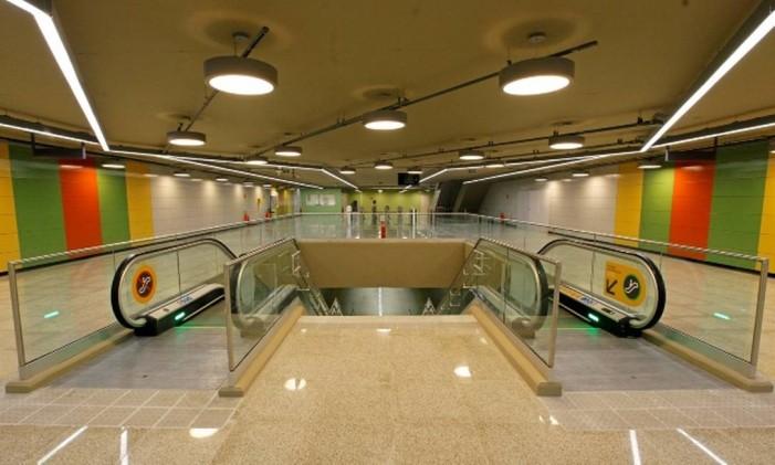 Estação Jardim de Alah Foto: Reprodução / metrolinha4.com.br