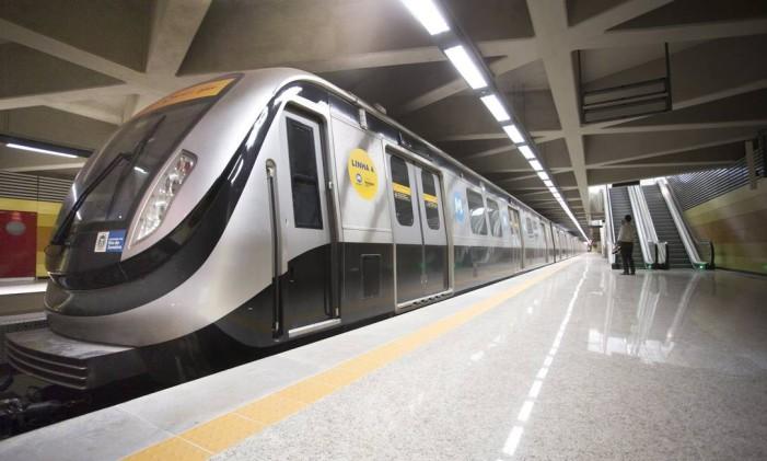 A Estação Jardim Oceânico, da Linha 4 do metrô Foto: Márcia Foletto / O Globo
