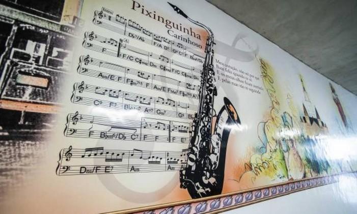 Painel homenageia Pixinguinha na estação Nossa Senhora da Paz Foto: Governo do estado / Divulgação