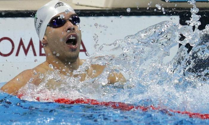Daniel Dias na prova dos 50m costas, classe S5: tricampeão paralímpico, mais um ouro dele no Rio Foto: Márcio Alves / Agência O Globo