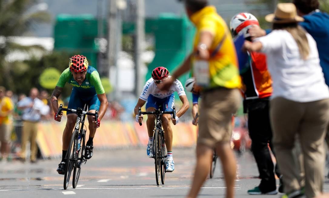 Lauro Chaman na reta final da corrida. Washington Alves / MPIX/CPB