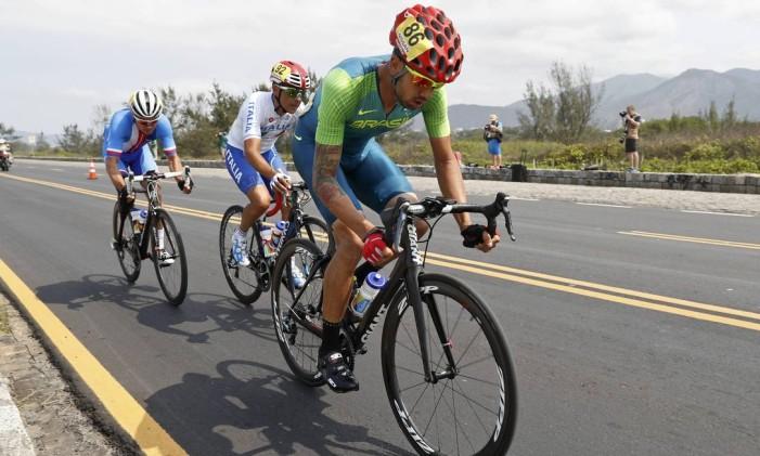 Cesar Lauro Chaman levou a prata no ciclismo de estrada Foto: CARLOS GARCIA RAWLINS / REUTERS