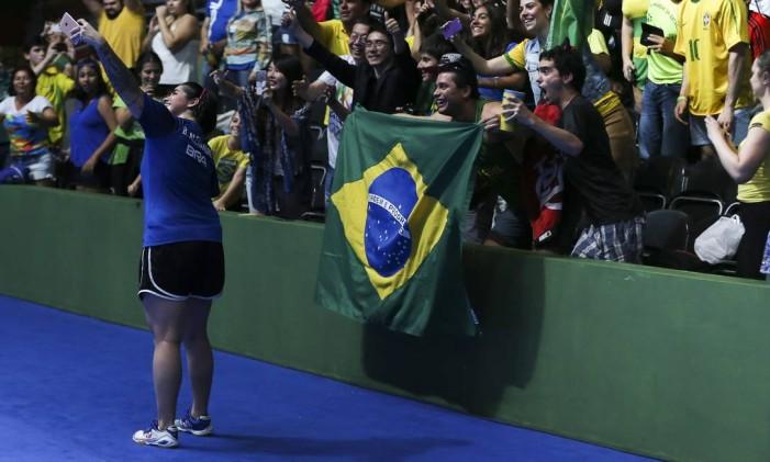 Bruna Costa levou o bronze, junto com Danielle Rauen, no tênis de mesa Foto: Monica Imbuzeiro / Agência O Globo
