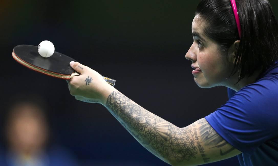 Bruna Alexandre durante a partida contra a Austrália. Brasil levou a medalha de bronze Monica Imbuzeiro / Agência O Globo