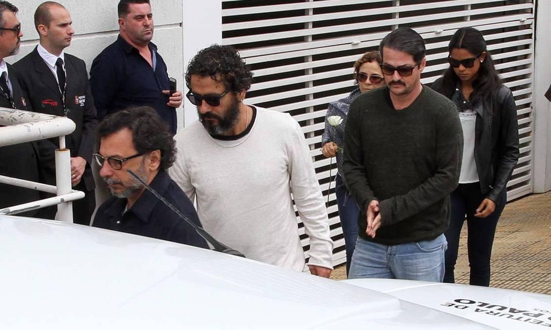 Marcos Palmeira e Marcelo Serrado também se despediram do amigo Orlando Oliveira / Agência O Globo