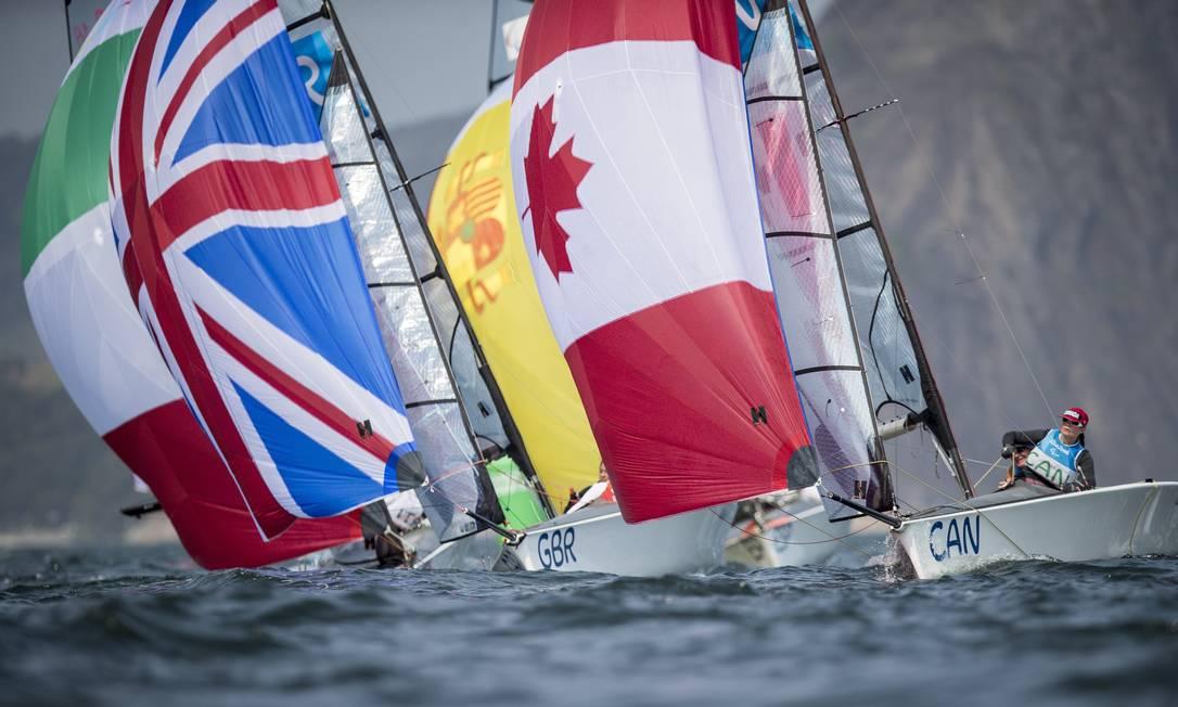 Penúltimo dia da Paralimpíada teve competição de vela, classes Sonar, Skud 18 e 2.4mR Hermes de Paula / / Agência O Globo