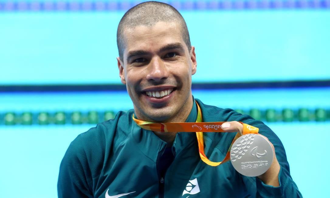 Daniel Dias ganhou a prata nos 100m do peito masculino (SB4) Foto: Marcelo Theobald / Agência O Globo