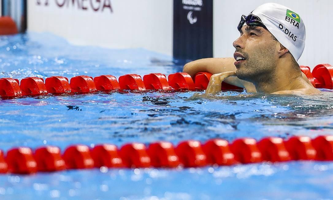Daniel Dias chegou a sua 24ª medalha em Paralimpíadas, tornando-se o dono do maior número de medalhas na natação - no masculino Foto: Guilherme Leporace / Agência O Globo