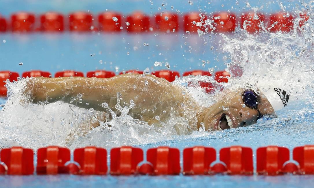 O nadador brasileiro Daniel Dias conquistou a sua oitava medalha nos Jogos Paralímpicos ao vencer os 100m livre S5 CARLOS GARCIA RAWLINS / REUTERS