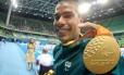 Daniel Dias e a medalha de ouro conquistada na final dos 100m livre S5