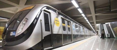 Distâncias encurtadas. Com a Linha 4, passageiros poderão fazer o trajeto da Barra até a Estação General Osório, em Ipanema, em cerca de 15 minutos Foto: Agência O GLOBO / Márcia foletto