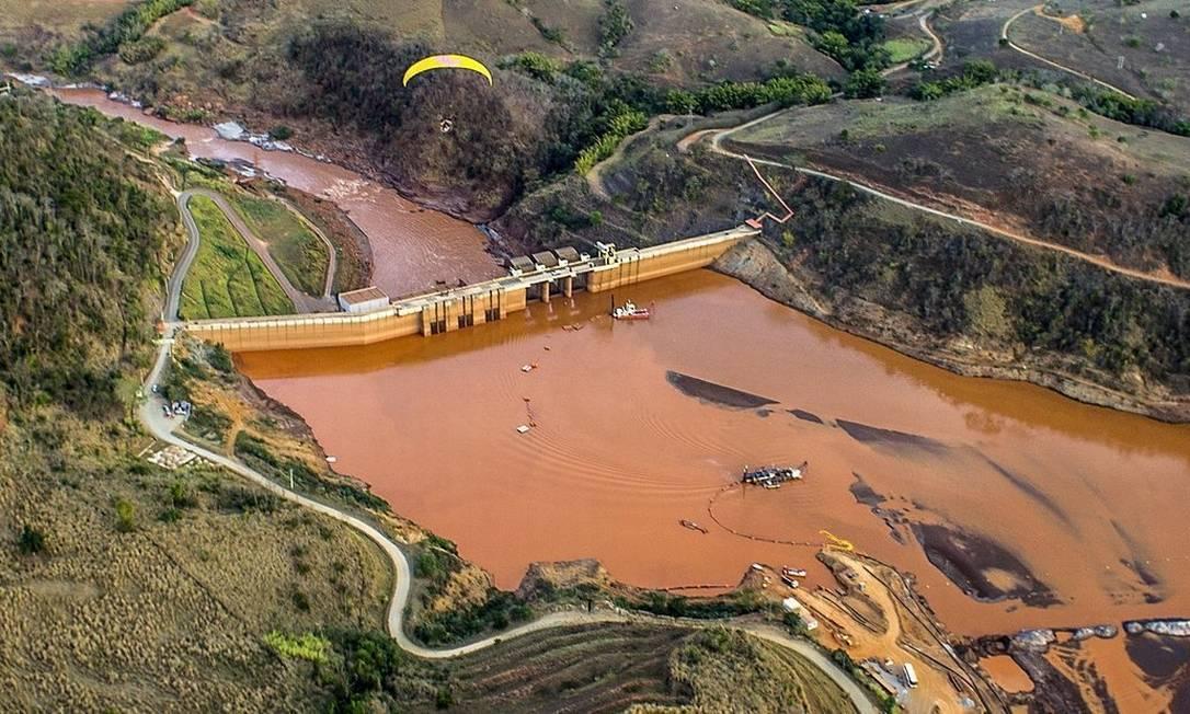 A barragem da Usina Risoleta Neves: STJ decide se Vale deve continuar recebendo por hidrelétrica soterrada após rompimento Foto: / Divulgação