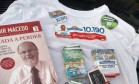 Propaganda eleitoral apreendida em centro de recuperação de dependetes químicos Foto: Divulgação / TRE