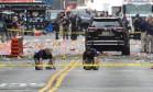 Ruas fechadas para o trabalho de investigação do FBI Foto: RASHID UMAR ABBASI / REUTERS