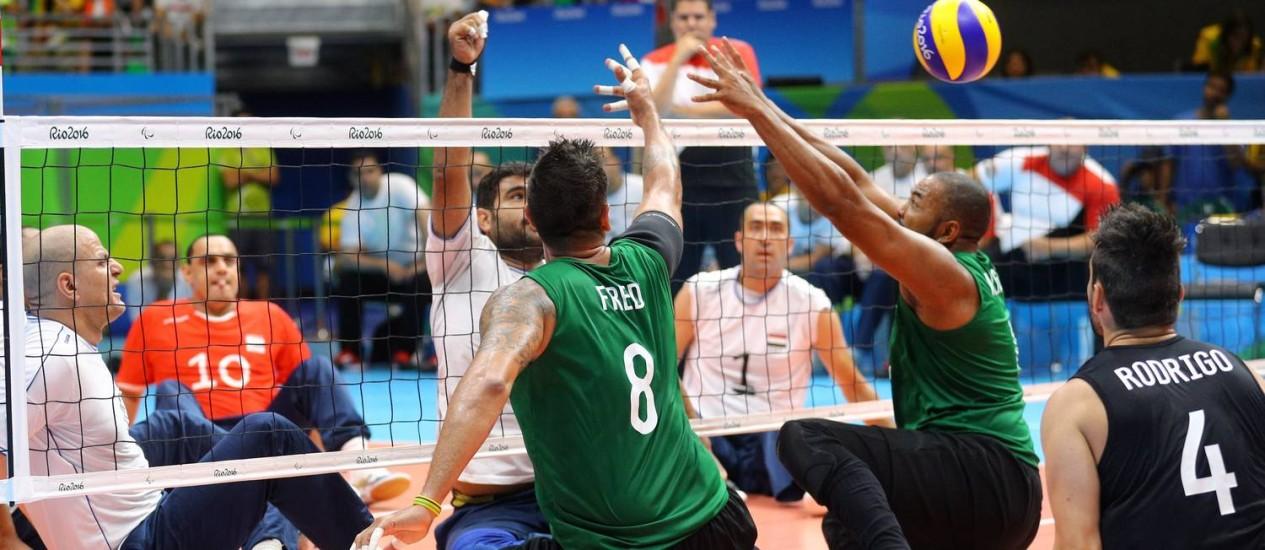 Brasil perde do Egito na decisão do bronzen o vôlei sentado masculino Foto: Pablo Jacob / Agência O Globo