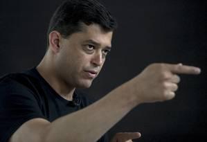Índio da Costa durante entrevista ao GLOBO Foto: ANTONIO SCORZA / Agência O Globo