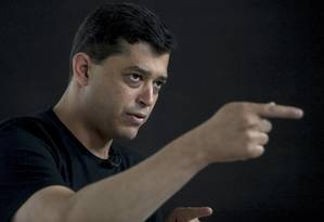 Índio da Costa, candidato do PSD à prefeitura do Rio, em entrevista ao GLOBO Foto: ANTONIO SCORZA / Antonio Scorza/Agência O Globo