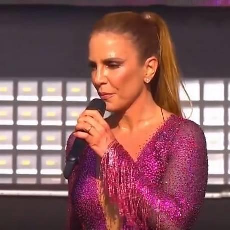 Ivete Sangalo durante show em Salvador Foto: Reprodução