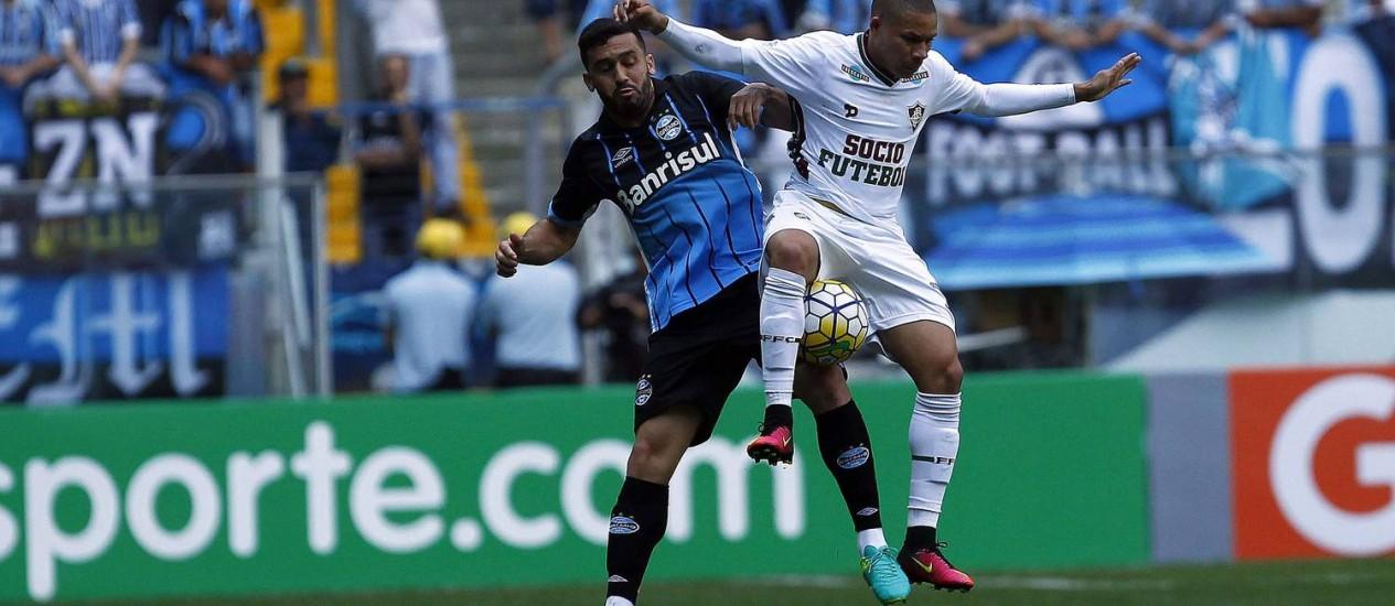 O Fluminense foi a Porto Alegre e derrotou o Grêmio por 1 a 0 Foto: RODRIGO RODRIGUES/GREMIO FBPA / Divulgação