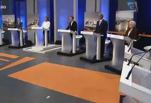 Candidatos à prefeitura de São Paulo participam de debate na TV Gazeta Foto: Reprodução