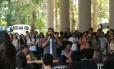 Candidato do PSOL, Marcelo Freixo responde a perguntas de alunos da PUC