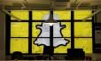 Logo do Snapchat é desenhada com post-its em prédio de Nova York